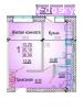 1к квартира 36м2 в р-не ул. Комарова